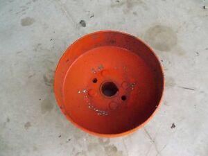 Allis Chalmers C Tractor Ac Real Nice Original Steel Flat Belt Pulley Ac