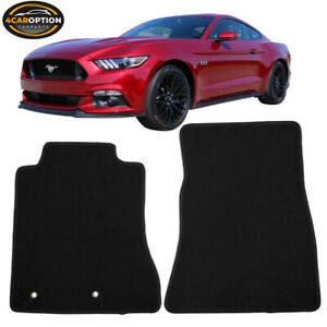 Fits 15 18 Ford Mustang Black Nylon Front Floor Mats Carpets 2pc