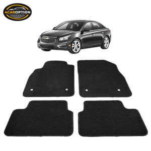 Fits 08 16 Chevrolet Cruze Floor Mats Carpets Front Rear 4pc Black Nylon