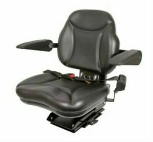 Bbs108bl New big Boy Seat With Armrest Black For Case ih Tractors