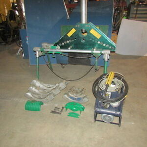 Greenlee No 884 885 Portable Hydraulic Bender W table 1802 Electric Pump