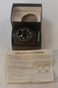 Vintage Nos 50s 60s 70s Airguide Lighted Dash Compass Auto Truck Accessory 1