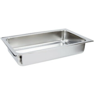 Set Of 4 Full Size Stainless Steel 8 Qt Chafing Dishes Chafer Steam Table Pans