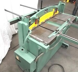 Pexto Metal Hydraulic Power Shear 16 Gauge 37 Inch With Back Front Gauge