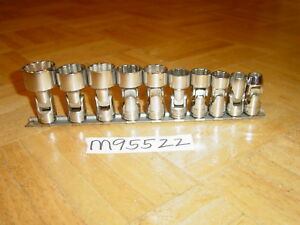 Snap on Tools 9 Piece 3 8 Drive Metric Short Swivel Socket Set 209fumy