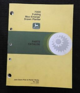 John Deere 7000 8 10 12 16 18 24 Row Drawn Maxemerg Planter Parts Catalog Manual