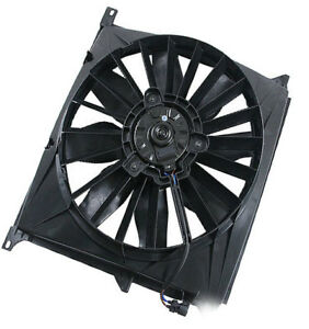 Front A c Condenser Auxiliary Cooling Electric Fan Motor Aftermarket For Bmw