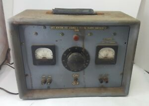 Vintage Signal Generator Us Military Triplet 327 t Powerstat Portable For Repair
