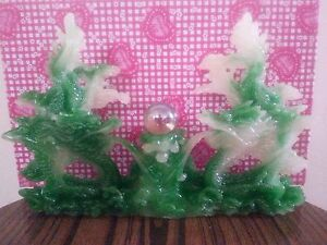 9 L Chinses Lucky Green Money Wealth Double Dragon Statue