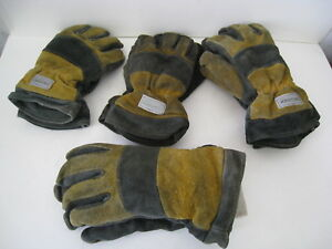 Lot Of 4 Damaged Lion Commander Structural Fire Fighting Protective Gloves
