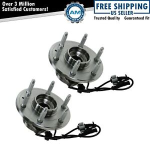 Front Wheel Hub Bearing Left Right Pair Set For Chevy Gmc Cadillac 4wd