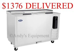 4 Foot 2 Inches Sliding Top Doors Bottle Cooler Chiller Refrigerator Beer 50