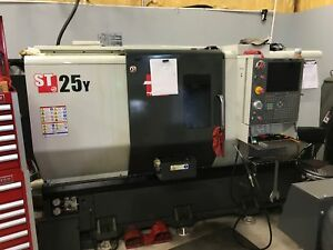 Haas St 25y Cnc Lathe 2015 Y axis Tailstock Barfeed Apc Tool Presetter Clean