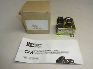 Industrial Timer Company Cm 9 Programming Timer Module
