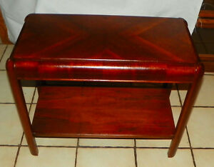 Mahogany Mid Century End Table Side Table T684