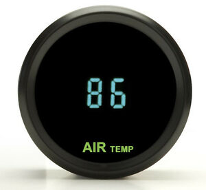 Dakota Digital Round Outside Ambient Air Temperature Gauge Teal Odyr 14 1 New