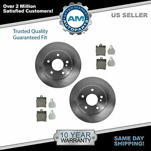 Nakamoto Brake Pad Rotor Rear Ceramic Kit Set For Mercedes Benz