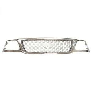 Grille Chrome Black Honeycomb For Ford F150 F250