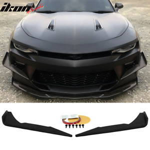 16 18 Chevy Camaro Ss Front Bumper 2 Pc Canards Coated Matte Black