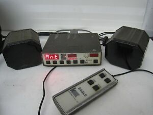 Kustom Signals Police Radar Golden Eagle 2 Antennas Control Unit Remote Speed