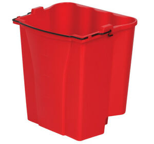Rubbermaid Commercial 35 Qt Mop Bucket Red