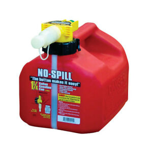 No Spill Plastic Gas Can 1 25 Gal