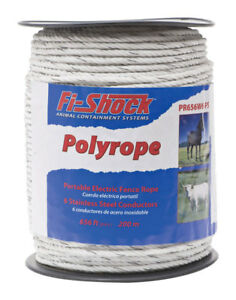 Fi shock 656 Ft L Poly Rope White