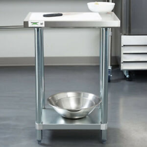 New Commercial 18 X 24 Stainless Steel Work Prep Table With Undershelf Kitchen