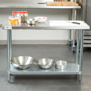New Commercial 18 X 48 Stainless Steel Work Prep Table With Undershelf Kitchen