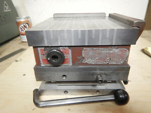 Suburban 6x6 Magnetic Chuck Sine Plate For Surface Tool Grinder W Hold Down