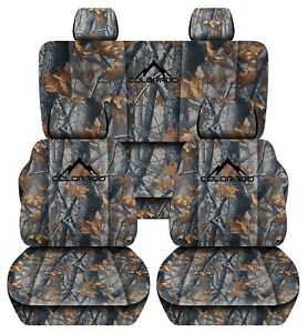 Fits 2015 2018 Chevrolet Colorado Real Tree Camouflage Seat Covers 60 40 Rear