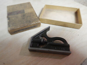 Vintage Small Lufkin Combination Square Head With Box Machinist Tool