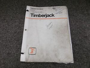 Timberjack Timbco Master T25 Skidder Feller Buncher Parts Catalog Manual