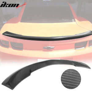 Fits 10 13 Chevy Camaro Oe Factory Real Carbon Fiber Cf Trunk Spoiler Rear Wing