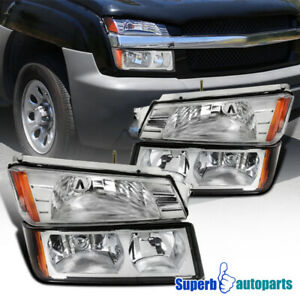 02 06 Chevy Avalanche 1500 2500 Headlights Signal Turn Bumper Light Left Right