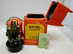 Wild Heerbrugg T16 Scale Reading Theodolite Survey W Transit Case Free Shipping