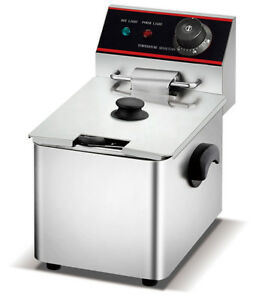 Open Box Fonchef Deep Fryer Single Tank Electric Commercial Stainless Steel