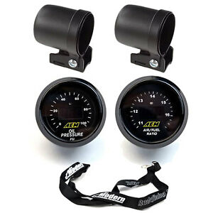 Aem 2 Gauge Kit 52mm Oil Pressure Uego Wideband Air Fuel Ratio W Mounting Cup