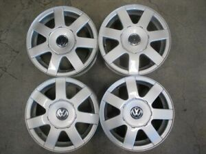 Four 1998 2001 Volkswagen Passat Factory 15 Wheels Oem Rims 69722 5x112