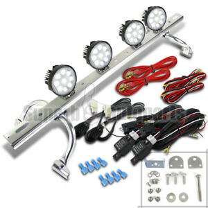 4x 4 5 9led Round Bulb 4wd Off Road Light Offroad roof Fog Lamp Bar switch Suv