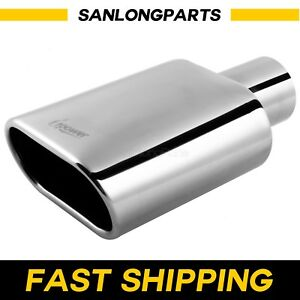 Stainless Steel Car Truck Square Exhaust Tip 2 25 Inlet 5 5 X 3 Outlet 9 Long