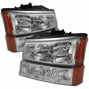 Spyder 5064912 Headlight For 2003 2006 Silverado 1500 Gmc Sierra 2500 Hd 2pc