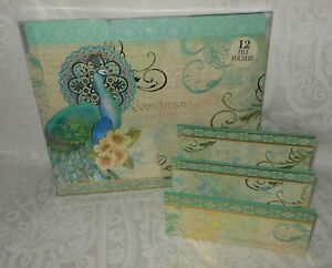 13 Pc Punch Studio Peacock Desk File Folders Mail Letter Organizer Holder New
