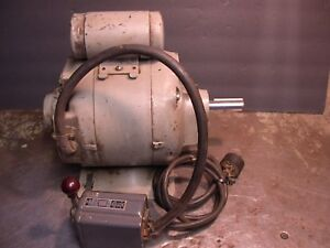 Excellent Ge 1 2hp Pre wired Metal Lathe Motor South Bend Logan Atlas Lathes