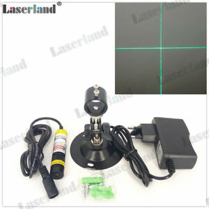 1668 515nm 30mw Cross Hair Green Laser Module Diode For Wood Fabric Cutting