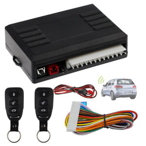 Universal Car Door Lock Keyless Entry System Remote Central 2 Remote Controllers