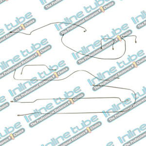 1938 Chevrolet Car 112 3 Wb Complete Brake Line Set Kit Straight Axle Stainless