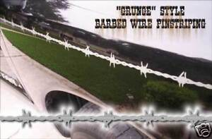 Barbedwire Pinstriping Grunge Style White Ford Dodge Chevy Nissan Etc