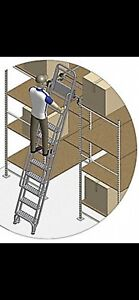 Cotteman 7400 Dual Track Ladder Rolling Stairs Trolley Warehouse Deer Stand