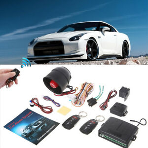 Car Vehicle Burglar Alarm Security System Keyless Entry Siren Protective 2remote